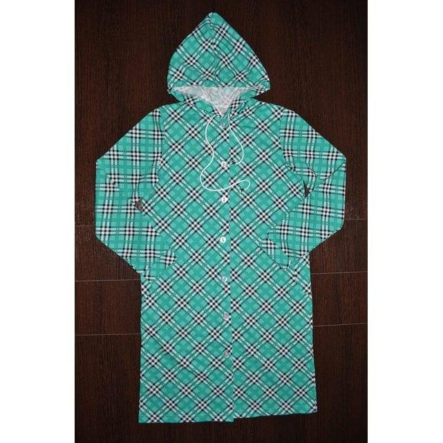 Детский халат с капюшоном на пуговицах Vistyle 8003 зеленый
