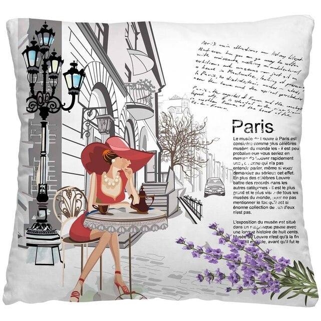 Волшебная Ночь Подушка-думка Кафе в париже