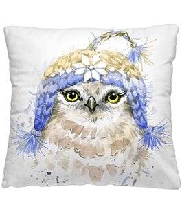 Подушка-думка Птичка в шапке Волшебная Ночь