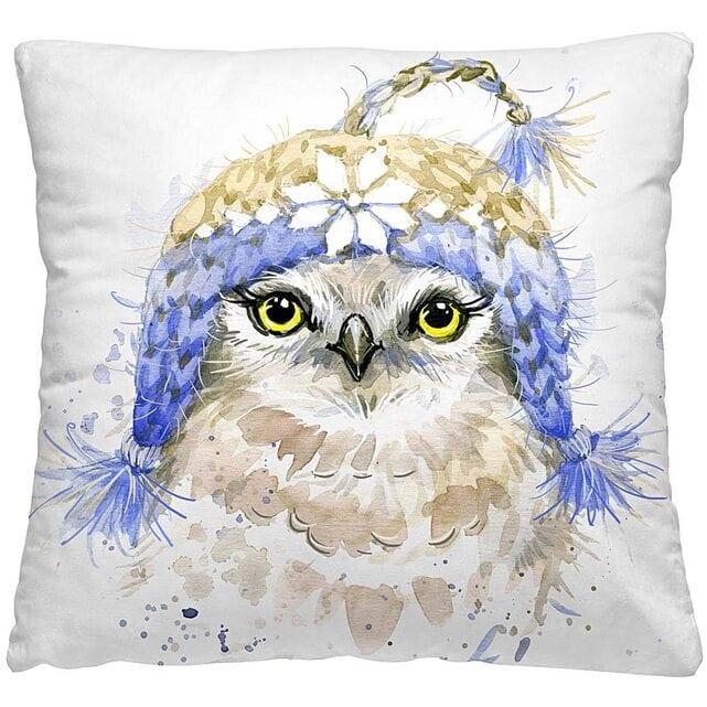 Волшебная Ночь Подушка-думка Птичка в шапке