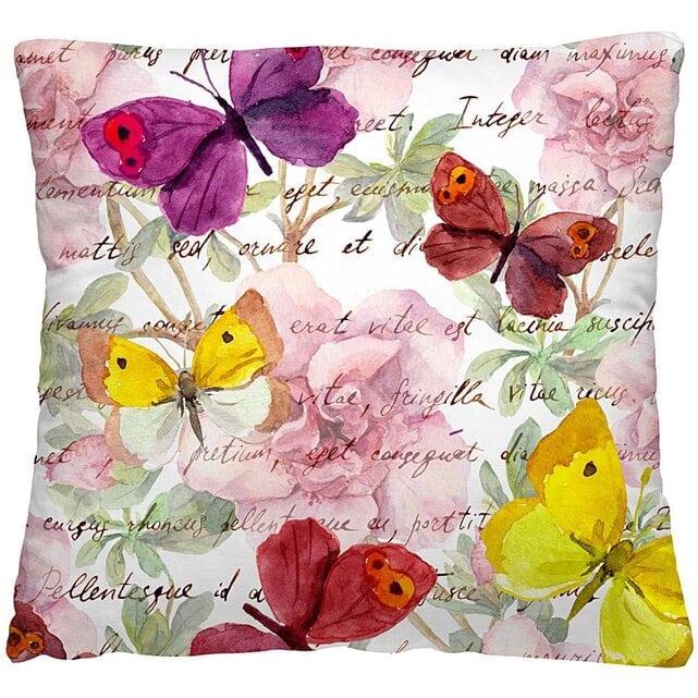 Волшебная Ночь Подушка-думка Пестрые бабочки