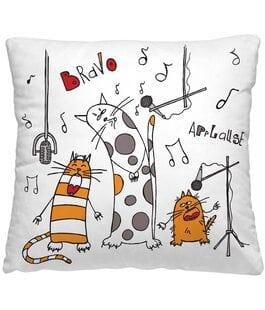 Подушка-думка Весёлые коты Волшебная Ночь