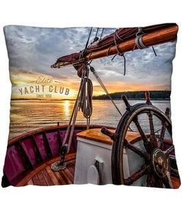 Подушка-думка Яхта Волшебная Ночь