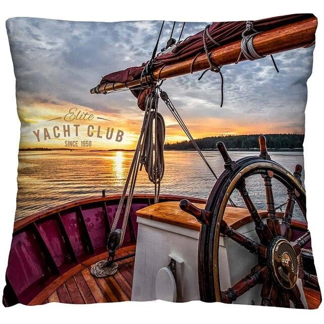 Волшебная Ночь Подушка-думка Яхта