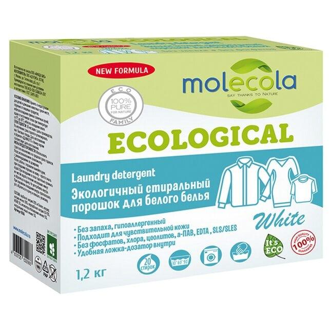 Molecola Экологичный стиральный порошок для белого белья с растительными энзимами 1200 г