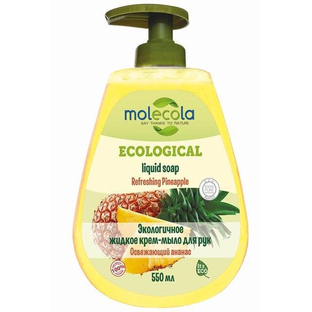 Molecola Экологичное жидкое мыло для рук Освежающий ананас 550 мл