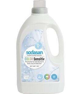 Жидкое средство для стирки цветных тканей и для чувствительной кожи Sodasan