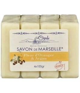 Мыло марсельское Апельсиновый цвет и Аргана Savon de Marseille La Cigale
