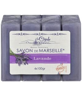 Мыло марсельское Лаванда Savon de Marseille La Cigale