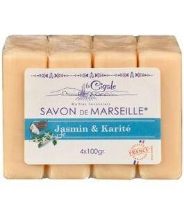 Мыло марсельское Жасмин и Каритэ Savon de Marseille La Cigale