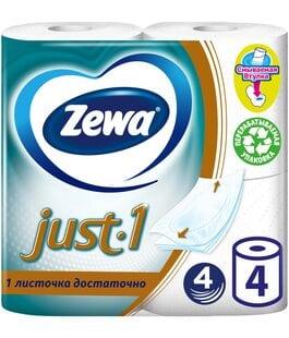 Туалетная бумага 4 слоя 4 шт Just 1 Zewa