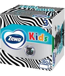 Салфетки бумажные детские 3 слоя 60 шт Kids Zewa