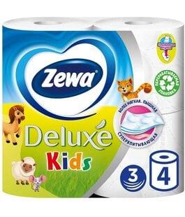 Туалетная бумага 3 слоя 4 шт Kids Zewa