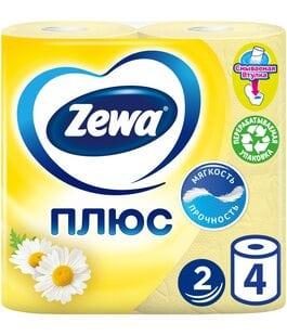 Туалетная бумага 2 слоя 4 шт Ромашка Плюс Zewa
