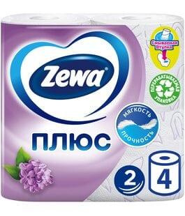 Туалетная бумага 2 слоя 4 шт Сирень Плюс Zewa