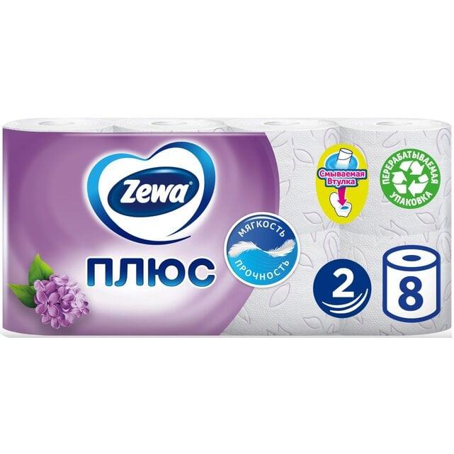 Zewa Плюс Сирень туалетная бумага 2 слоя 8 штук