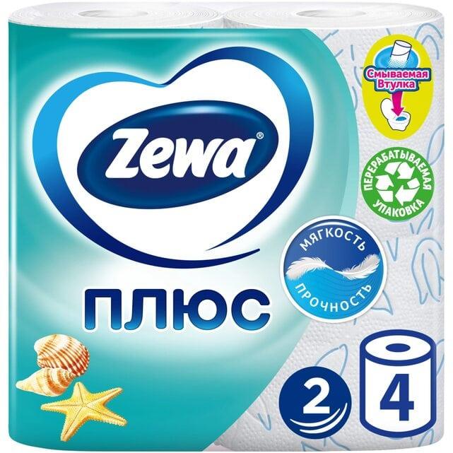Zewa Плюс Свежесть океана туалетная бумага 2 слоя 4 штуки