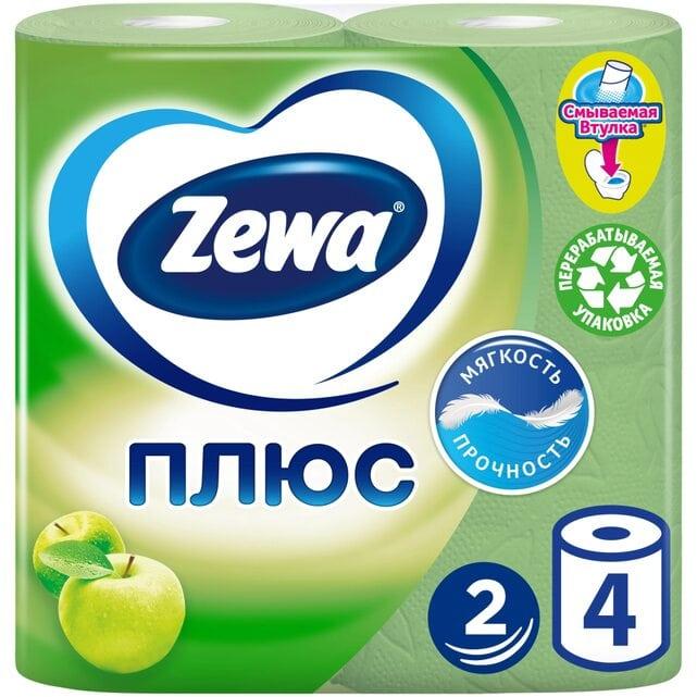 Zewa Плюс Яблоко туалетная бумага 2 слоя 4 штуки