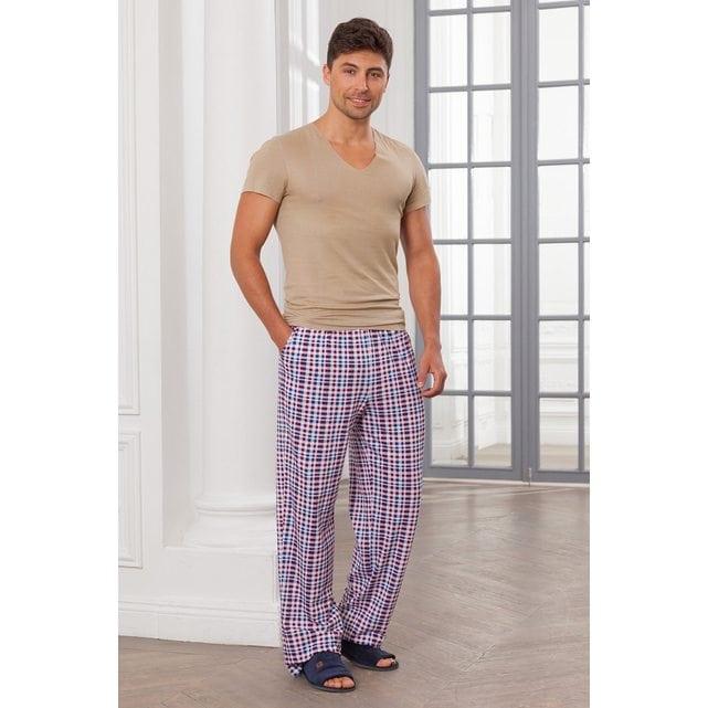 Мужские домашние брюки Cleo 33 белый синий красный