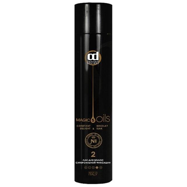 Constant Delight 5 Magic Oil Fixing Лак для волос 2 супер сильной фиксации без запаха 400 мл