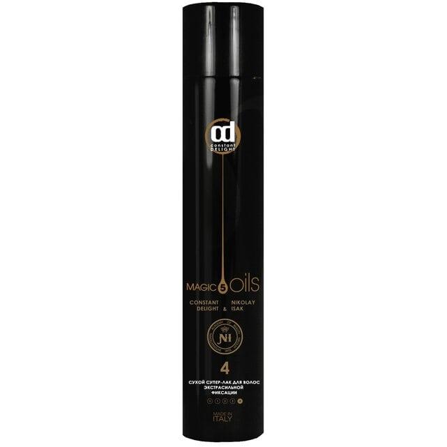 Constant Delight 5 Magic Oil Fixing Сухой супер-лак 4 экстра сильной фиксации без запаха 400 мл