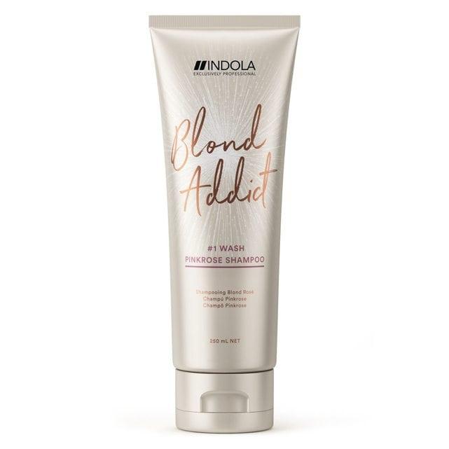 Indola Blond Addict Оттеночный шампунь Pinkrose 250 мл