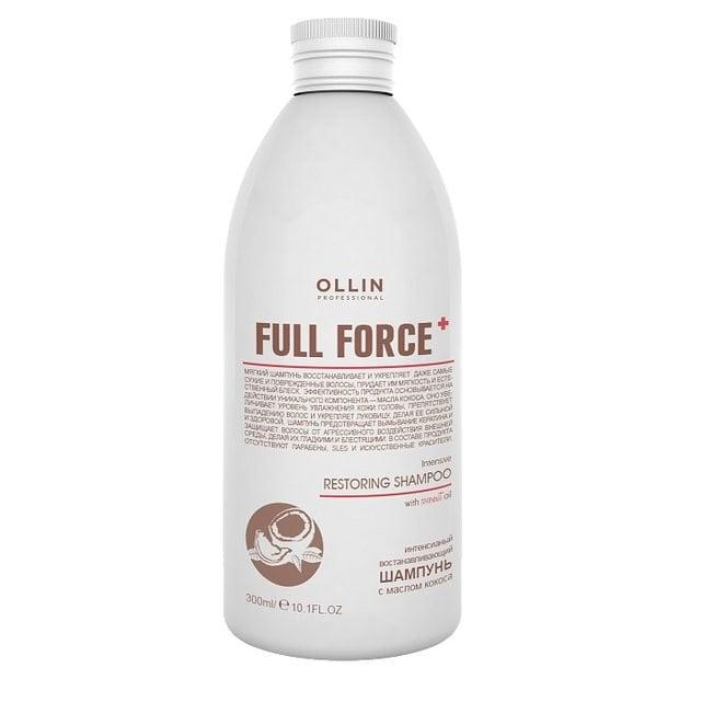 Ollin Full Force Интенсивный восстанавливающий шампунь с маслом кокоса 300 мл