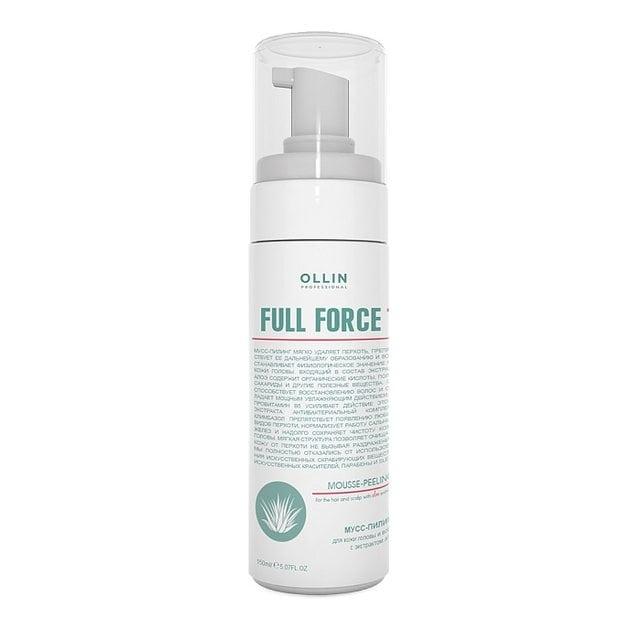 Ollin Full Force Мусс-пилинг для волос и кожи головы с экстрактом алоэ 160 мл