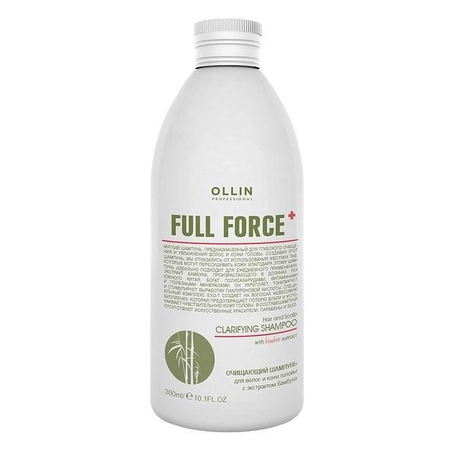 Ollin Full Force Очищающий шампунь с экстрактом бамбука 300 мл