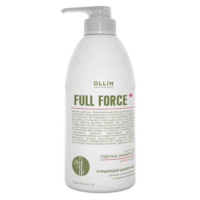 Ollin Full Force Очищающий шампунь с экстрактом бамбука 750 мл