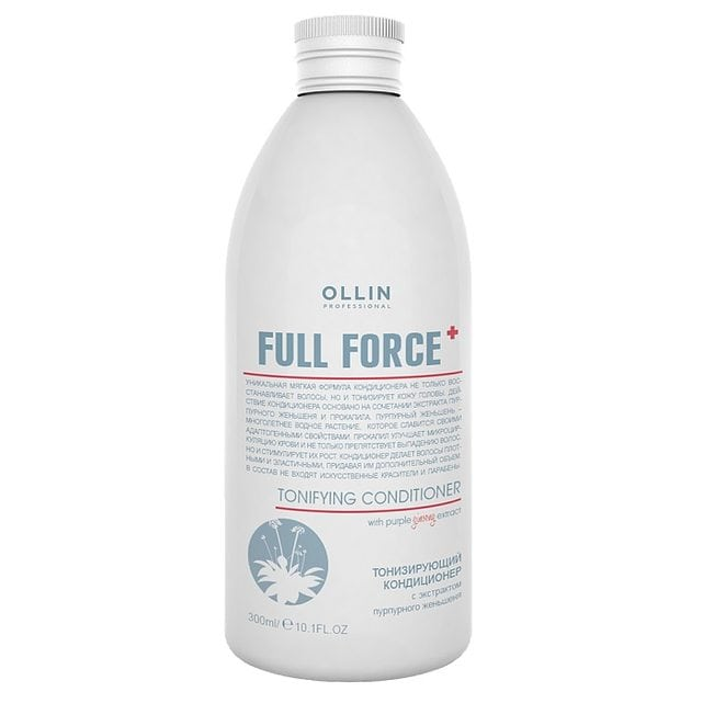 Ollin Full Force Кондиционер тонизирующий с экстрактом пурпурного женьшеня 300 мл