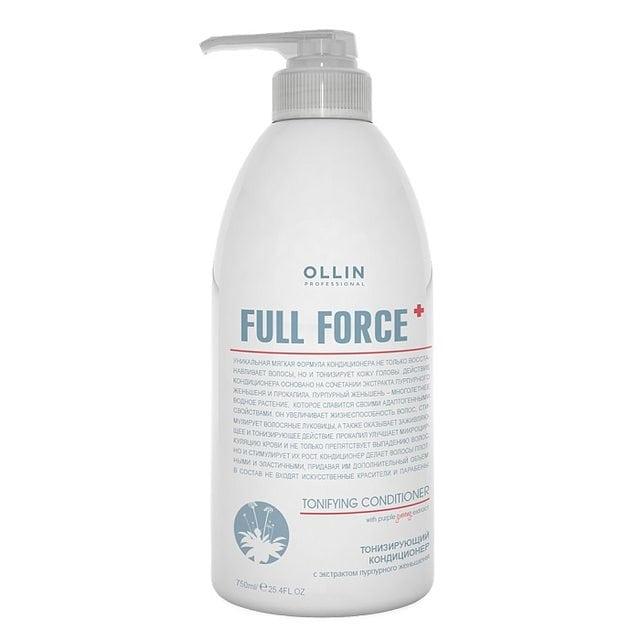 Ollin Full Force Кондиционер тонизирующий с экстрактом пурпурного женьшеня 750 мл