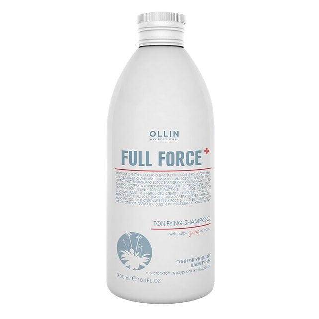 Ollin Full Force Шампунь тонизирующий с экстрактом пурпурного женьшеня 300 мл