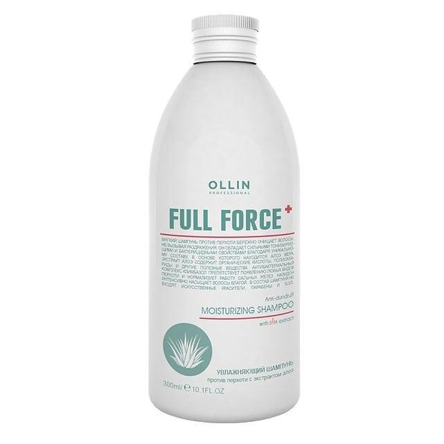 Ollin Full Force Увлажняющий шампунь против перхоти с экстрактом алоэ 300 мл