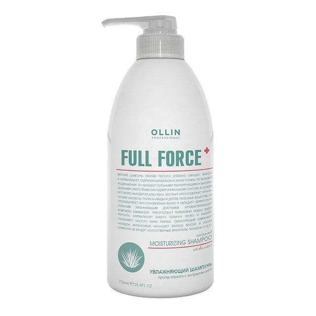 Ollin Full Force Увлажняющий шампунь против перхоти с экстрактом алоэ 750 мл