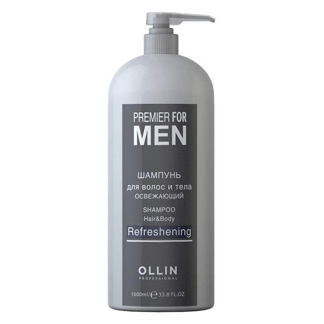 Ollin Premier For Men Шампунь для волос и тела освежающий 1000 мл