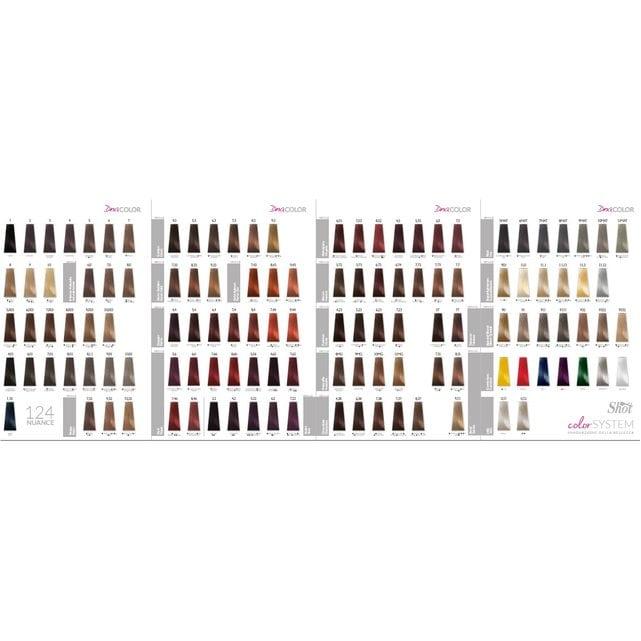Shot Dna Color Палитра оттенков крем-краски с коллагеном 102 оттенка