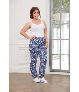 Женские брюки голубые гжель