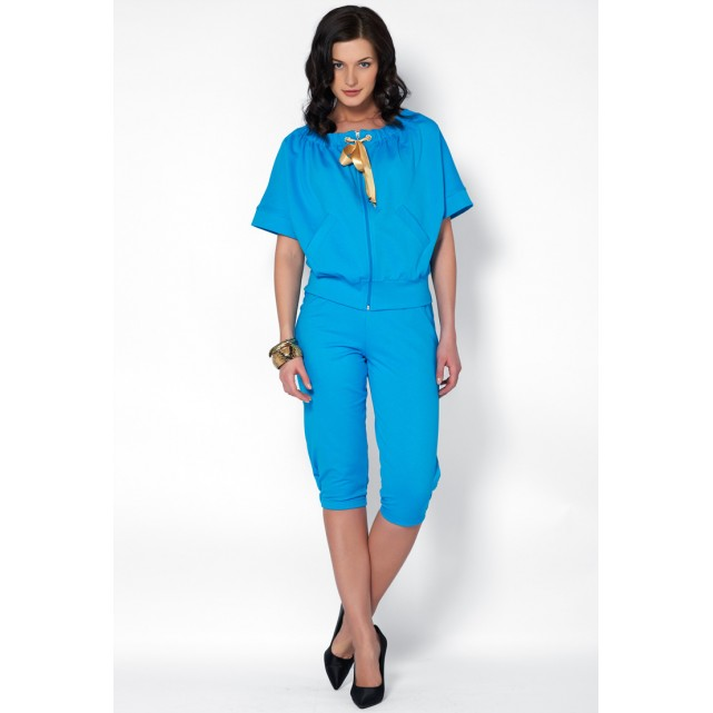 Женский костюм с бриджами Lylla 803-34 бирюзовый