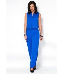 Женский костюм с капюшоном синий
