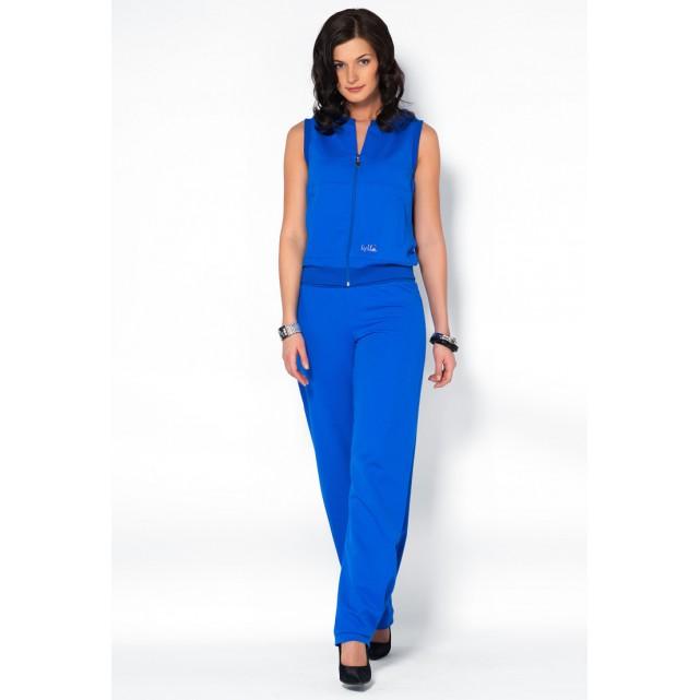 Женский костюм с капюшоном Lylla 801-34 синий