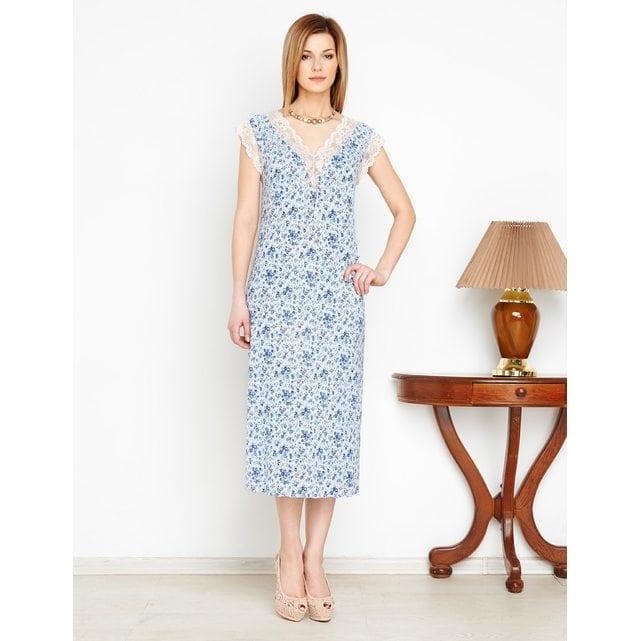 Ночная сорочка голубая LYLLA 1598-18