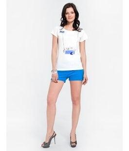 Женский комплект с шортами лазурно голубой