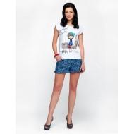 Женский комплект с шортами синий