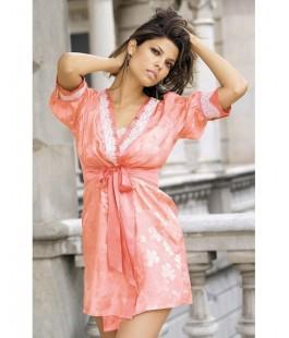 Халат кимоно персиковый Belle