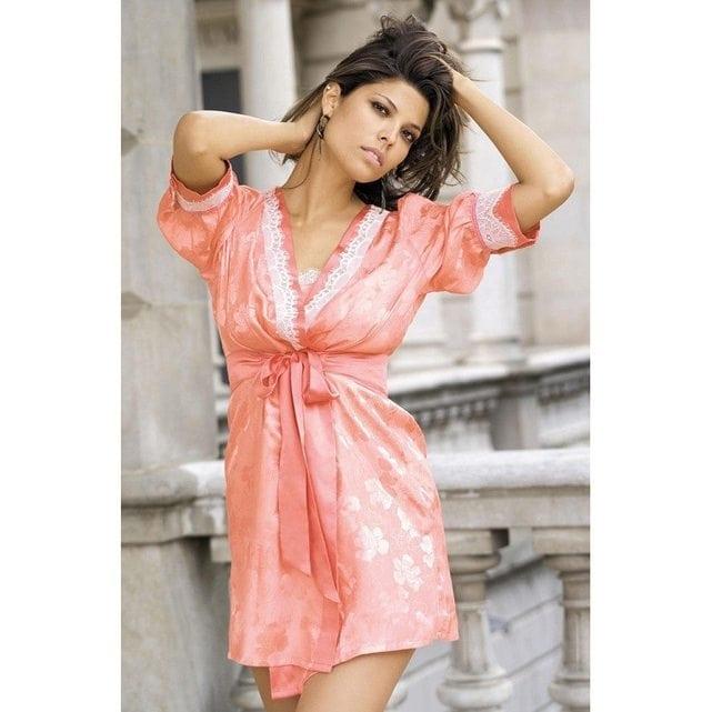 Женский халат кимоно Mia Mia Belle 5807 персиковый