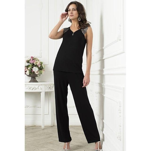 Пижама с брюками Mia Mia 6242 черный