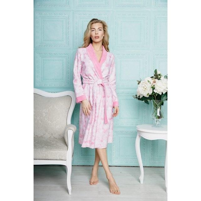 Длинный женский халат Five Wien Liana розовый